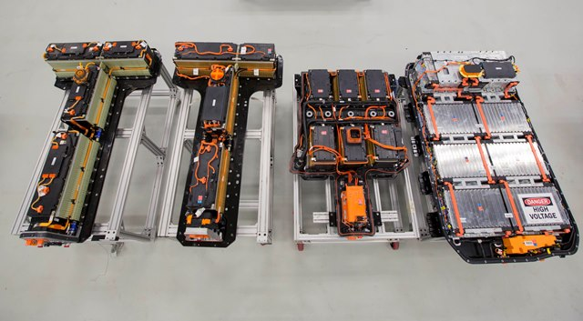 Chevrolet Bolt battery pack on the far right